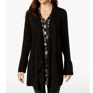Style & Co Sweaters - STYLE & CO Bell-Sleeved Draped Cardigan
